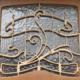 Typisch Art Nouveau-element in Brussel aan het Horta-huis in de Amerikastraat