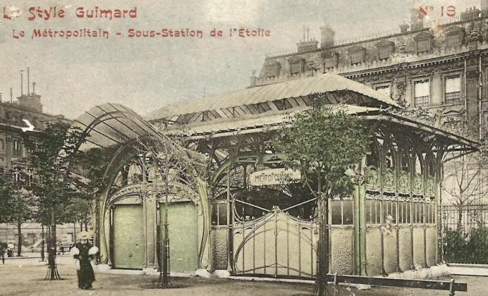 De verloren metro-ingang Etoile, al eind jaren '20 afgebroken